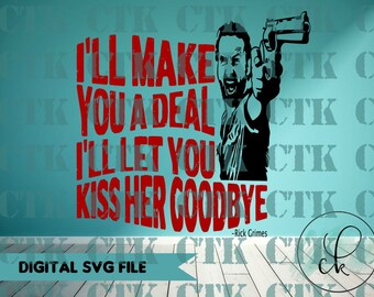 SVG Cut File,Cricut,Stencil, Silhouette, T-shirt,Mug,Tumbler, The Walking Dead, Negan, Lucille, Zombies, Walkers, Rick Grimes, TWD