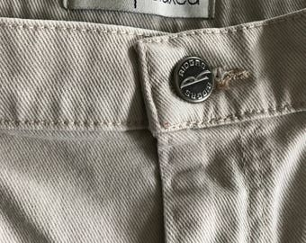 Vintage Rider Relaxed Beige Jeans 14 Petite