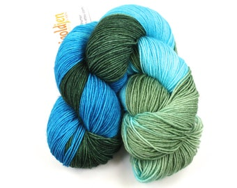 Yoshi--hand dyed sock yarn, BFL and nylon, (464yds/100gm)