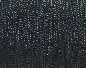 Chain necklace black color 3x2mm