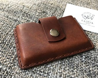 Business Card Holder, Card Case, Card Wallet, Gift for her, Gift for Him, 'Brown'
