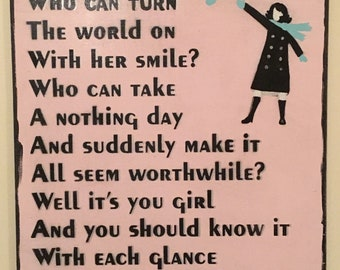 Mary Tyler Moore. Retro theme song sign. Girl, friend, mother, sister wall decor.