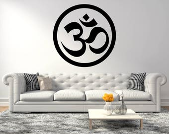Om yoga symbol  - Yoga Series -  Wall Decal For Home Decoration