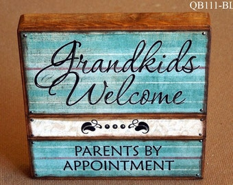 Grandkids Welcome Quote Block (QB111)