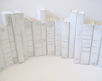 White Wedding Books, Beach Wedding Decor, Summer Wedding, Wedding Decor,  White Painted Books,  Wedding Book Decor, Beach Wedding Books