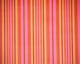 Retro Wallpaper by the Yard 70s Vintage Wallpaper - 1970s Pink and Orange Stripes