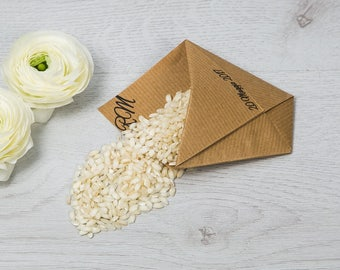 """Sachet decorated with origami-Line """"White Lace"""""""