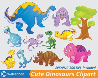 Cute Dinosaur various charactor. Vector Clip Art for Commercial and Personal Use /Digital art, INSTANT DOWNLOAD.