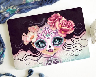 Camila Huesitos Postcard Postcrossing, Sugar Skull, Ghost Girl