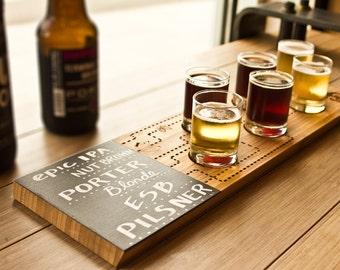 Beer tasting tray, beer flight tray