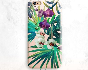 iPhone 8 Case, Floral iPhone X Case, Tropical Leaves iPhone 7 Case, iPhone 6 Plus, iPhone 7, Leaves iPhone 6 Case, Palms iPhone 5 Case