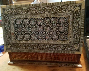 vintage Morrocan inlay box with 420 supplys inside
