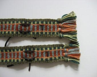 hand-woven wool banjo straps