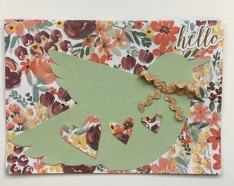 Handmade Hello Bird Card