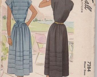 Bust 32-1943 Misses' Dress McCall 7284 Sz 14
