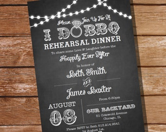I Do BBQ Rehearsal Dinner Invitation - Instant Download and Edit with Adobe Reader - Print at Home!