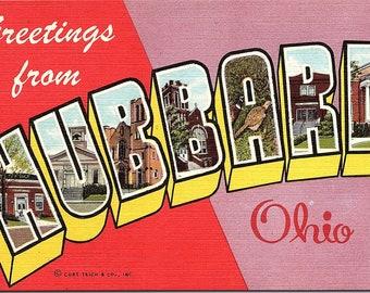 Hubbard, Ohio, Greetings - Postcard - Vintage Postcard - Unused (WW)
