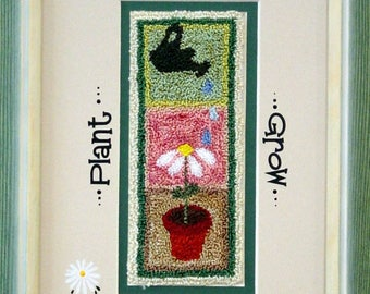 Plant  Love  Grow , 429 Punch Needle Art