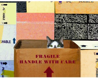 Cat Art Print, Housewarming Gift, Gifts for Friends,Kindness Quotes, Wall Sayings, Cat Artwork, Deborah Julian