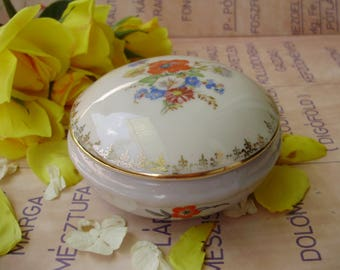 Antique,Hungarian,Drasche porcelain trinket box,jewelry box ,stamped