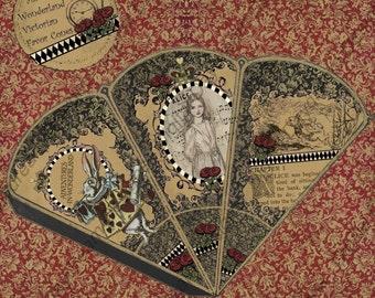 Instant Download Alice Digital Printable Victorian Favor Cone Kit Set 1 jpg or pdf