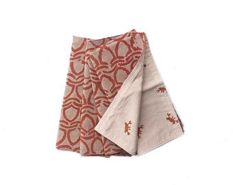 Napkins Cotton Reversible table linens SAMPLE SALE bohemian boho tabletop home decor block print dining table Kitchen and Dining - CRAB