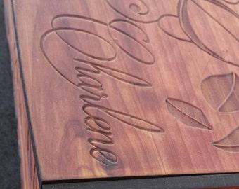 """Personalized Engraved Keepsake Box 9.5"""""""
