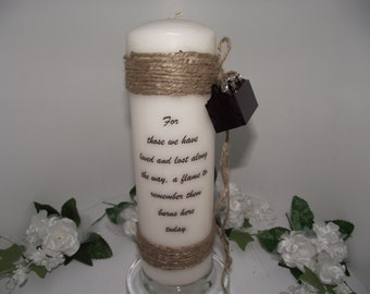 Memory candle for the handyman or carpenter