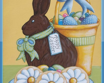Easter Bunny, Easter Eggs, Easter pattern, Easter Basket, Easter decorations, painting pattern, epattern, instant download, digital download