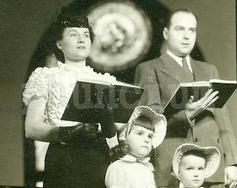 Vintage Photo: Singing Hymns in Church