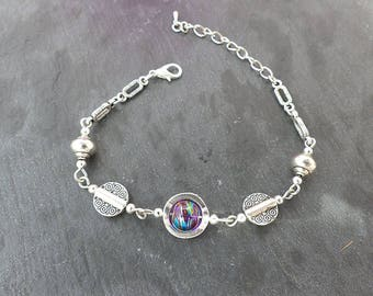 ♥ Bracelet silver and pearl purple ♥