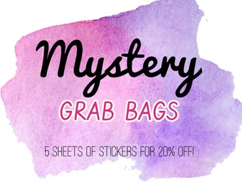Mystery Grab Bag of Planner Stickers - 3 Options | Stationery for Erin Condren, Filofax, Kikki K and scrapbooking