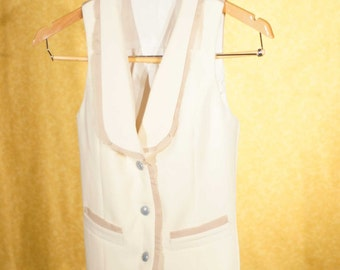 Boho Women's Wedding Suit---Custom Vest and Pant