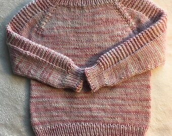 Sweater sleeves long baby girl 0-6 months/wool/knit/pink
