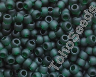 Toho Seeds Beads 6/0 Transparent Matte Frosted Emerald Green Moss TR-06-939F Rocailles size 6