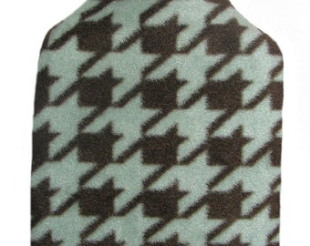 Warm Tradition Handsome HoundsTooth Fleece Hot Water Bottle Cover - COVER ONLY- Made in USA
