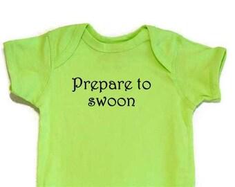 Lustige Baby Body Strampelanzug Prepare To Swoon