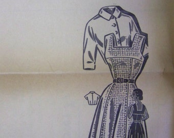 Vintage 1940s Mail Order CLOTILDE 3230 FIT-and-FLARE Dress & Bolero Pattern  sz 16 bust 34 UNused