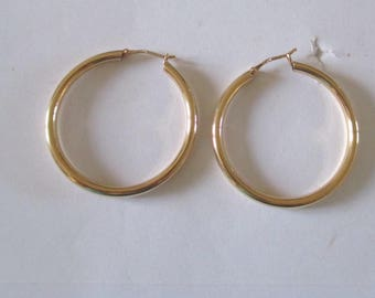 Creole rings gold plated 40mm
