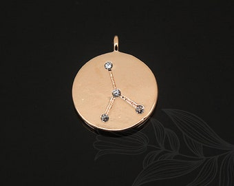 S1129-20pcs-Pink Gold Plated-Cancer