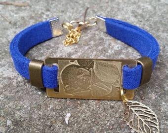 bracelet en lanière suédine à graver