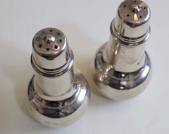 International Silver Mid Century Salt & Pepper Shakers / Silver Plated
