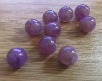 set of 20 Acrylic beads 12 mm