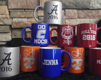 College or School logo coffee mug with Personalization