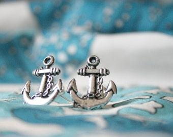 Anchors Away Adorable Hello Sailor Nautical Stud Earrings / Anchor Studs / Anchor Earrings  / SE001