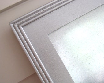 Metallic Silver Industrial Steel Magnetic Bulletin Board Framed Dry Erase Memo Board Magnet Board 20.5 x 26.5 Handmade Wood Frame Magnets
