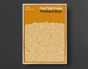 God Only Knows, The Beach Boys, Song, Lyric Poster
