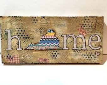 Virginia Wall Art, Virginia State Sign, Home State Sign