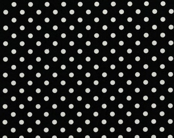 Dumb Dot Black Michael Miller Fabric by the Yard Polka Dot Black and White