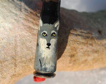 Wolf on 7.62mm Casing Bracelet